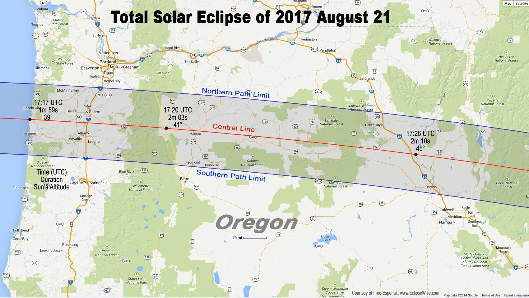 Far Out Total Solar Eclipse A MEGA Trip Of A Lifetime - Google map of path of us total solar eclipse 2017