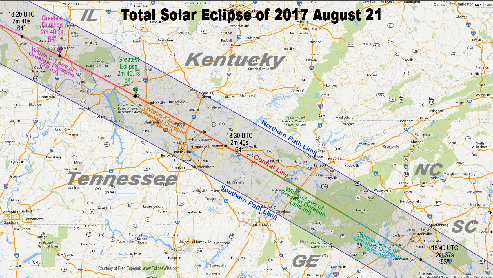 solar eclipse map north carolina Total Eclipse Of Sun August 21 2017 Astronomy Essentials