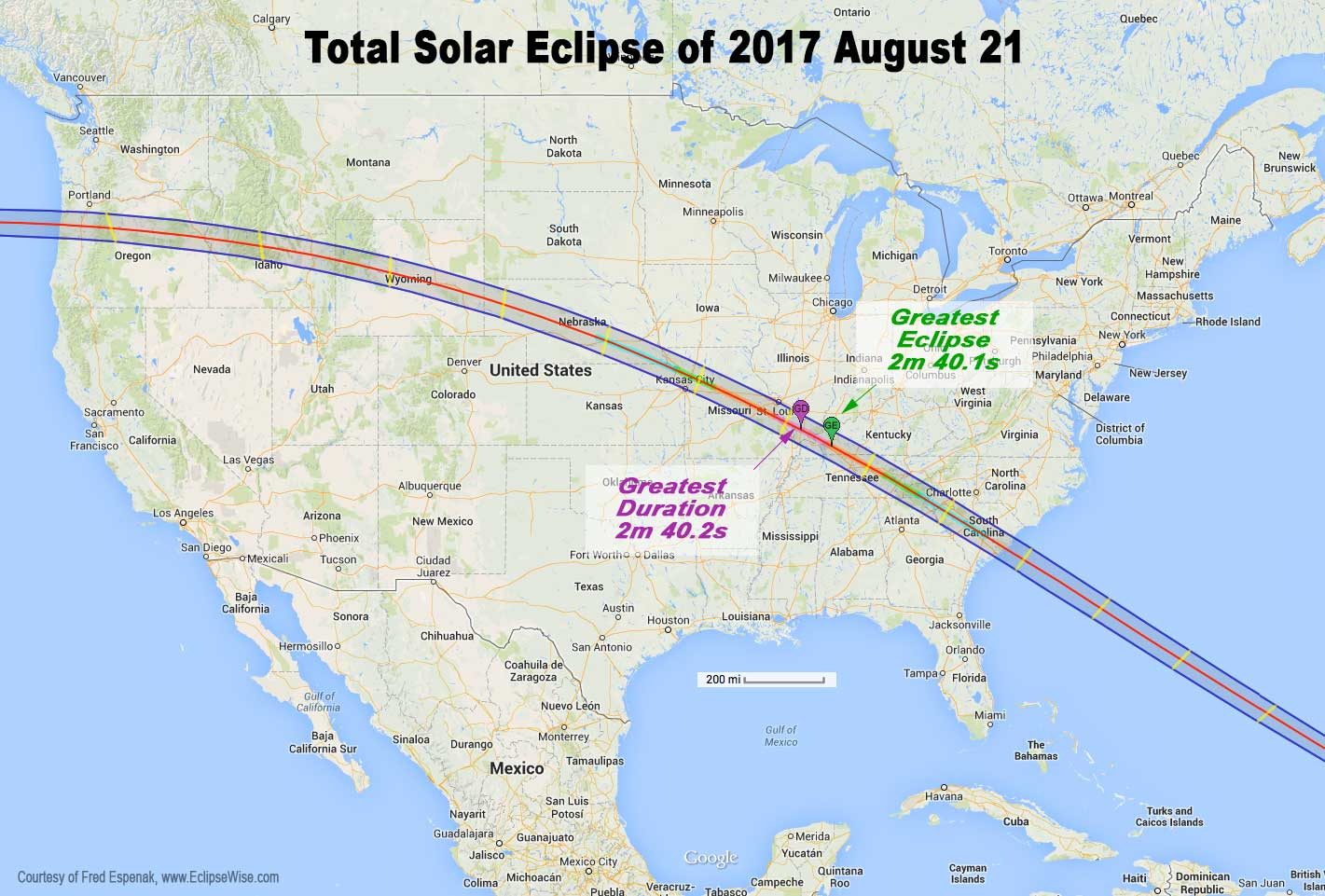 August 2017 Eclipse Map Total eclipse of sun: August 21, 2017 | Astronomy Essentials